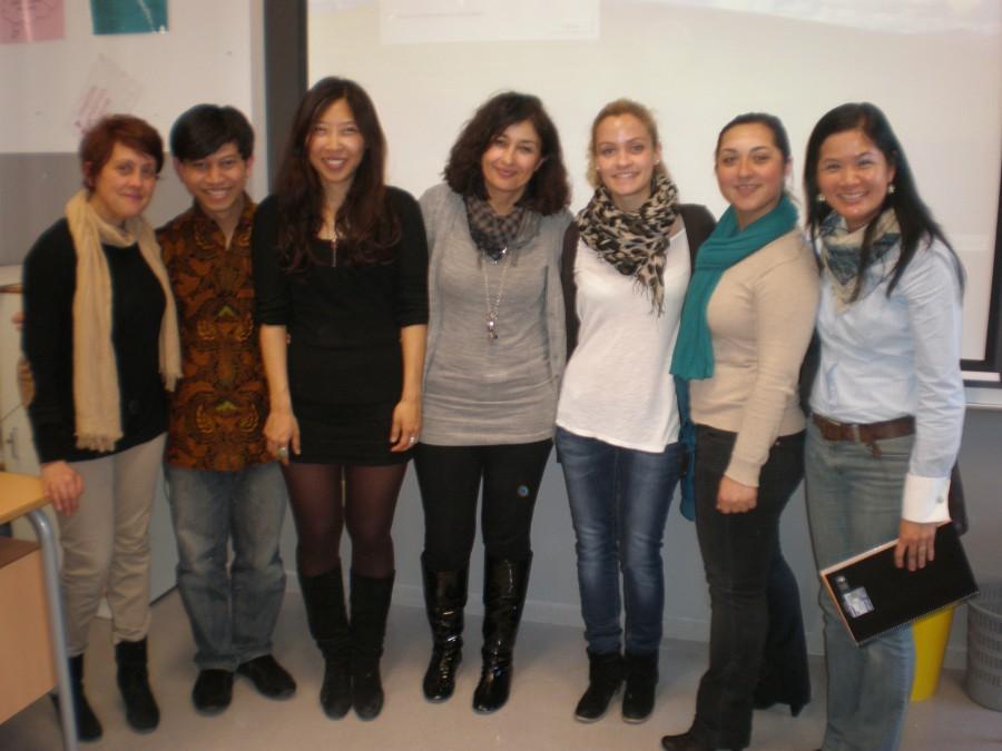 Bersama wakil kepala sekolah dan guru-guru B. Inggris